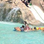 Kiddie slide and waterfall