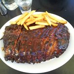 Large rack of ribs from Hurricane's with chips... mmmmm