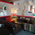 Great art on the interior walls