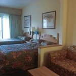mini suite with 2 double beds