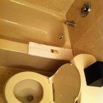 Bath tub and toilet