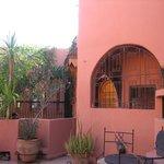 a courtyard area
