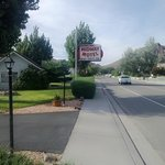 Midway Motel sign and rental house.
