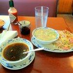 won ton_soup&Vegetable-Shrimp Fried_Rice...