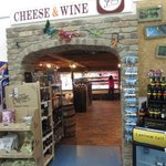 Entry to the Cheese World tasting counter and store
