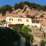 Vue du chemin qui descend vers Amalfi