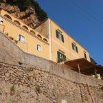 Vue du chemin vers Amalfi