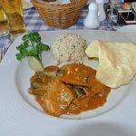 curry de poulet aubergine