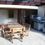 Barbecue and outdoor seating
