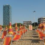 scorcio dell'hotel, pineta e spiaggia...