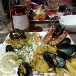 Poellée de la mer et rosé du Clos d'Alzetto