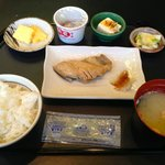 Japanese breakfast selection