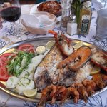 I so enjoyed this grilled fish/seafood platter