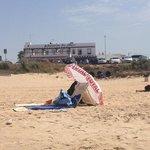 vista hostal desde playa