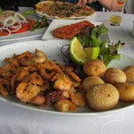 Delicious seafood at Restaurant Vesubio
