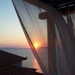 sun rise from terrace