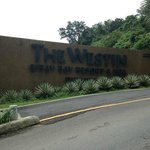 The Westin signage at entrance before auto-gate