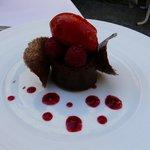 Chocolat noir et framboises