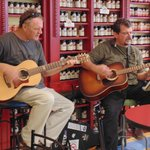 Kevin Head & Norbert Lepage entertain customers on a Saturday afternoon in front of our