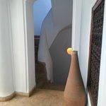 Escalera vista desde la habitación