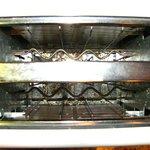 Crumbs left in toaster