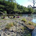 plage à la rivière