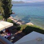 la spiaggia dal bar