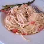 shrimp garlic pasta