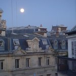 View from our balcony - early morning after a full moon