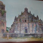 painting of Paoay Church