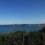 L'îlot Ste Anne depuis le camping