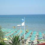 Spiaggia vista dalla stanza fronte mare