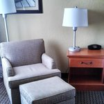 Chair with ottoman in our room