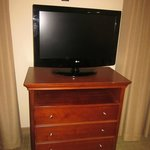 flat screen tv with many channels