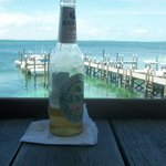Life is good! Sands Beer and the Sea of Abaco!