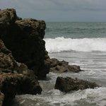 Volcanic rock on the beach