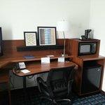 Working space in studio