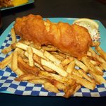 One Piece Battered Halibut & Chips