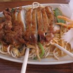 Duck with rice noodles
