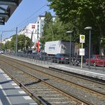 Tram stop is just one/two minutes from the hotel