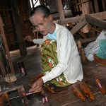 At the Silk handloom