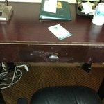 Banged up desk