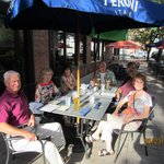 Dining at Ralph 'n' Rich's patio