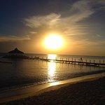 A beautiful sunset on the beach