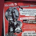 Sleuths Mystery sign.