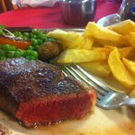 fantastic steak... perfectly prepared...