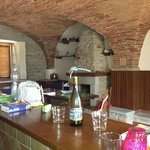 very nice  white wine magnano in kitchen
