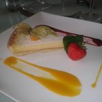 Glazed lemon tart & pork loin meal