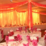 The beautiful banquet room