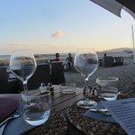Vue de la table sur la mer